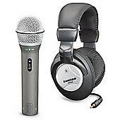 Samson Q2U USB/XLR Mic + HP20 Headphones