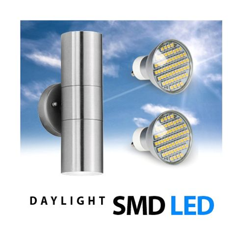 Buy Stainless Steel Up & Down LED Outdoor Garden Wall Light from our Wall & Porch Lights range ...