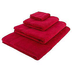 Tesco Hygro 100% Cotton Face Cloth, Red