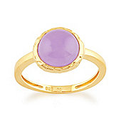 Gemondo Lavender Jade 'Irida' Pastel Ring in 9ct Yellow Gold Plated Sterling Silver