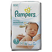 Pampers New Baby Sensitive Size 1 Essential Pack 39 nappies