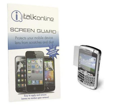 S-Protect LCD Screen Protector & Micro Fibre Cleaning Cloth - BlackBerry 8300 Curve