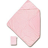 Baby Boum Hooded Towel & Wash Mitt (Spotty Candy)