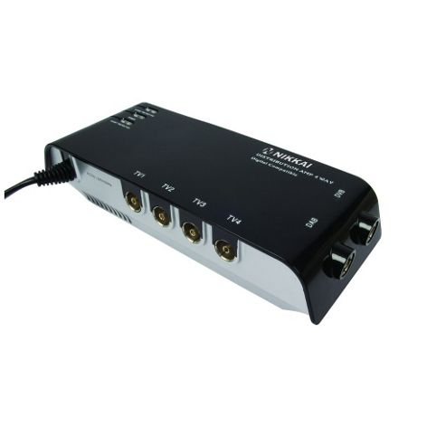 Nikkai 4 Output Aerial Signal Amplifier Digital Bypass