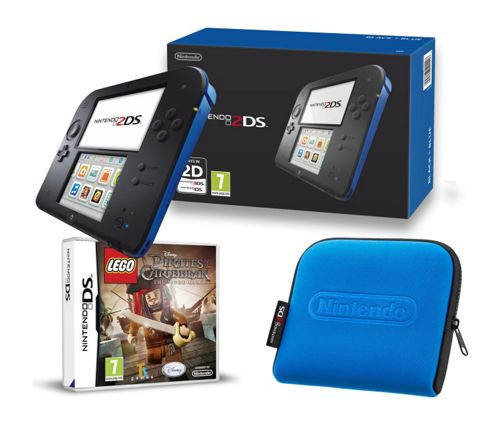 2DS Black & Blue (Lego Pirates of the Caribbean and Case)