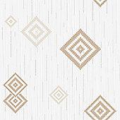 Muriva Eton Motif Wallpaper - Beige