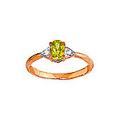 QP Jewellers Diamond & Peridot Allure Ring in 14K Rose Gold