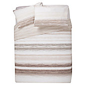 Tesco Watercolour Stripe Double Natural