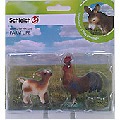 Schleich Farm Babies Set - Dwarf Goat Kid and Rooster