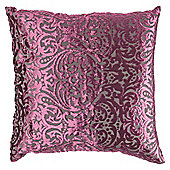 F&F Home Damask Devore Cushion Purple