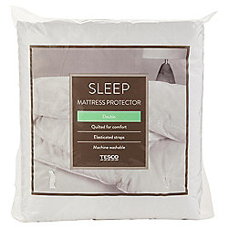 TESCO STD MATTRESS PROTECTOR POLY/COTTON DB