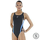 Speedo Girls Haste Thin Strap Legsuit Navy / Twilight / White - Navy