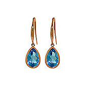 QP Jewellers 5.0ct Blue Topaz Elliptical Earrings in 14K Rose Gold