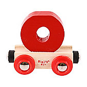 Bigjigs Rail Rail Name Letter O (Dark Red)