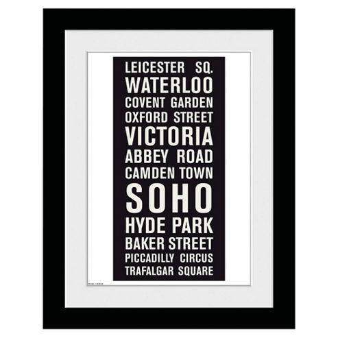London Locations Framed Print, 30x40cm