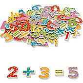 John Crane 100 Piece Wooden Magnetic Numbers