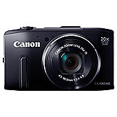 "Canon PowerShot SX280 HS Digital Camera, Black, 12.1 MP, 20x Optical Zoom, 3"" LCD"