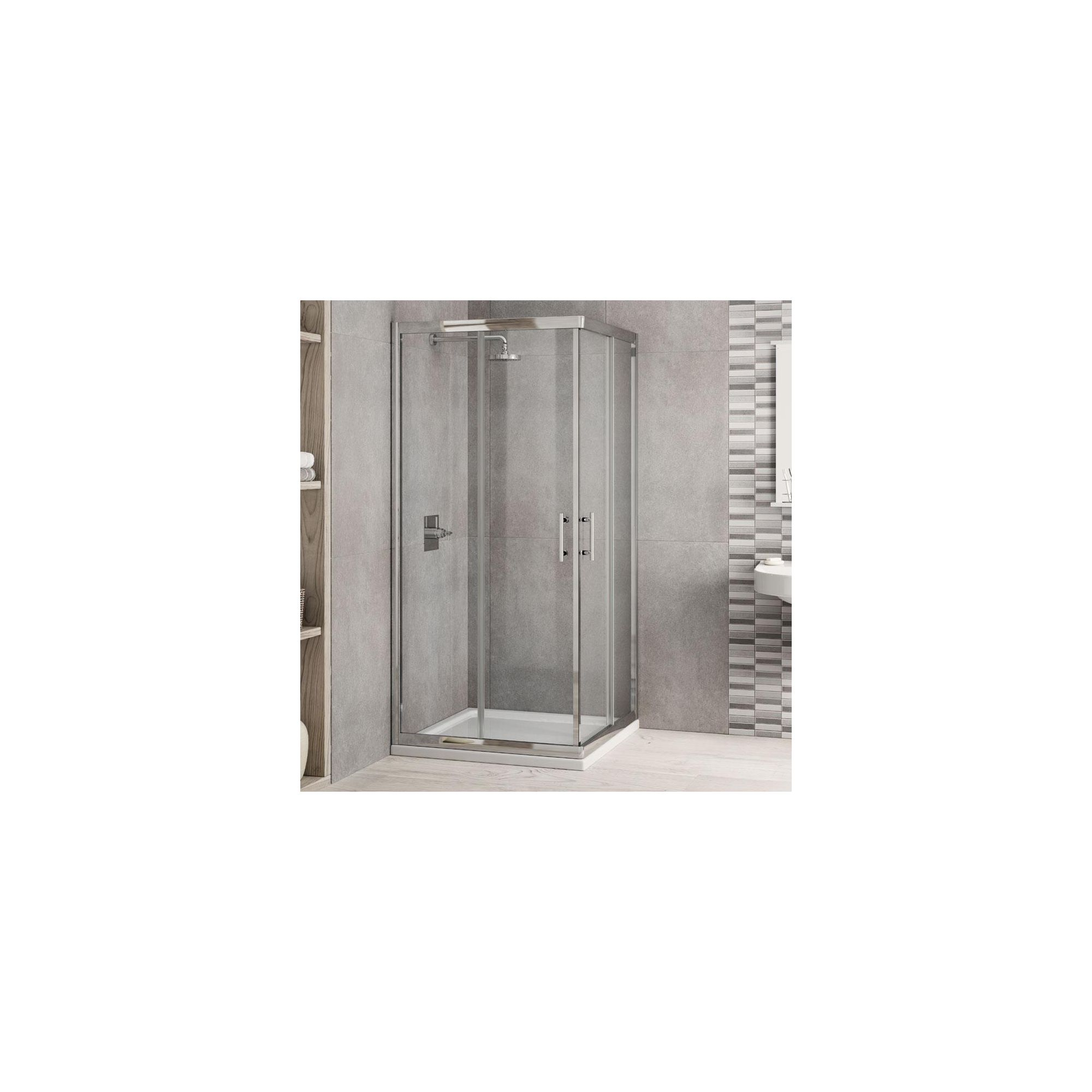 Elemis Inspire Corner Entry Shower Enclosure, 800mm x 800mm, 6mm Glass, Low Profile Tray at Tesco Direct