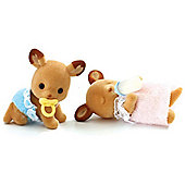 Sylvanian Families Red Deer Twin Baby Figures