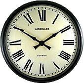 Roger Lascelles Clocks Large Wall Clock in Black