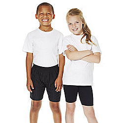 F&F School 2 Pack of Unisex T-Shirts with As New Technology years 09 - 10 White