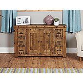 Baumhaus Heyford CRS02B Rough Sawn Oak Six Drawer Sideboard