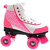 Luscious Retro Quad Roller Skates - Strawberry Kisses - Pink