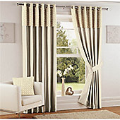Curtina Woburn Natural 46x90 inches (116x228cm) Eyelet Curtains