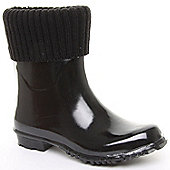 Brantano Ladies Shortie Black Wellington Boots - Black