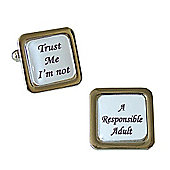 Trust Me I'm Not - A Responsible Adult Cufflinks