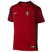 Nike Portugal Junior Football Replica Home Euro 2016 Jersey - Red