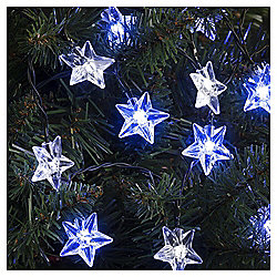 20 Starlight Christmas Lights, Clear and Blue