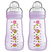 MAM Baby Bottle 270ml 2pk Girl