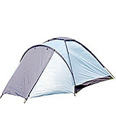 North Gear Camping Mono 3 Man Waterproof Dome Tent Blue