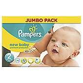Pampers New Baby Size 2 Jumbo Pack - 74 nappies