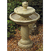 Bermuda - Classic 3 Tier Garden Water Feature / Fountain With Led Lights - Brown