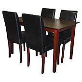 Premier Housewares 5 Piece Dining Set - Black