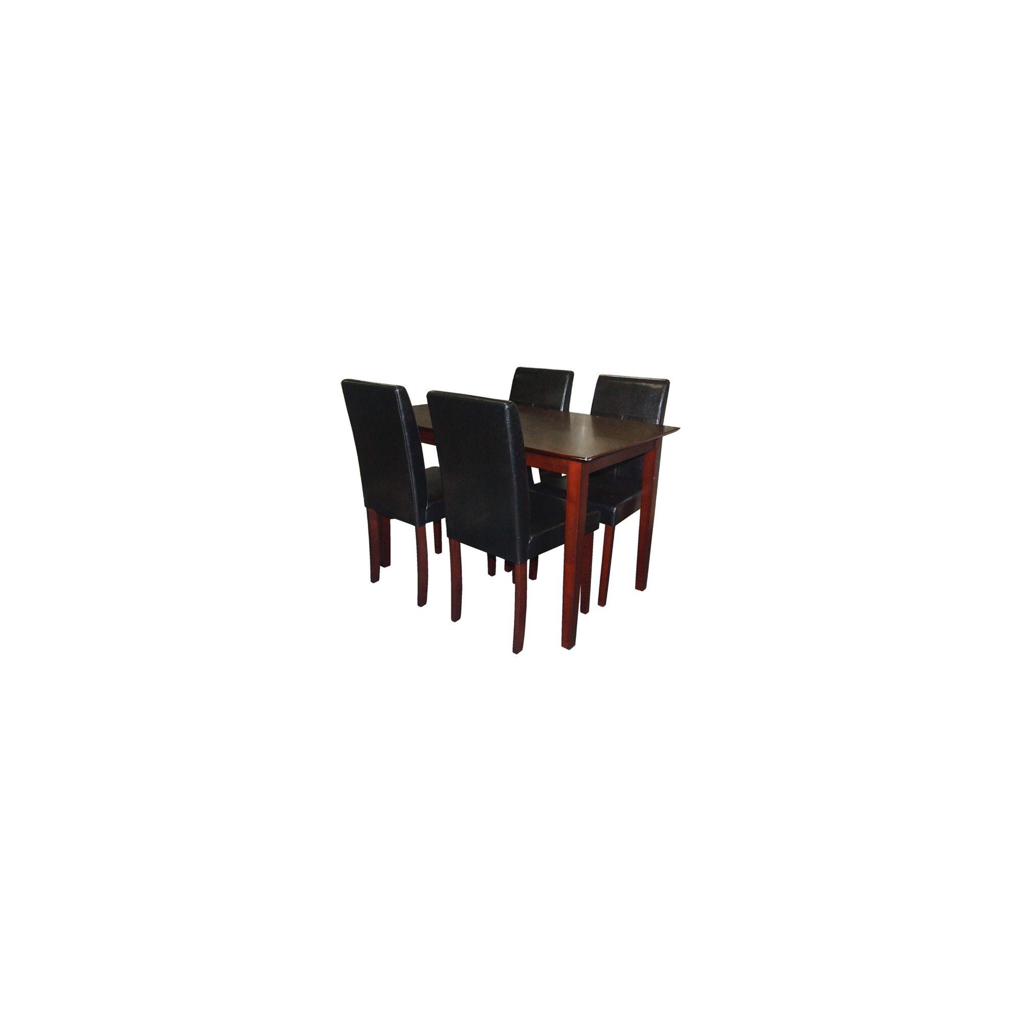 Premier Housewares 5 Piece Dining Set - Black at Tescos Direct
