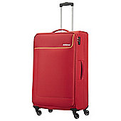 American Tourister Funshine 4-Wheel Red Large Suitcase