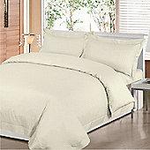 Hotel Collection Satin Stripe Single Duvet Cover Set In Cream