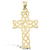 Jewelco London 9ct Yellow Gold Filligree Cross