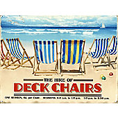 Deck Chairs For Hire Tin Sign