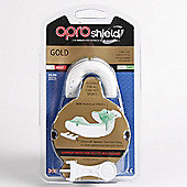 Opro Gold Superior Protection Self Easy Fitting Mouthguard White Green