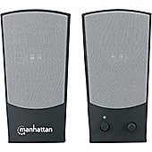 Manhattan 161725 2.0 Speaker System - 4 W RMS - Black