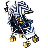 My Babiie MB02 Stroller (Blue Chevron)