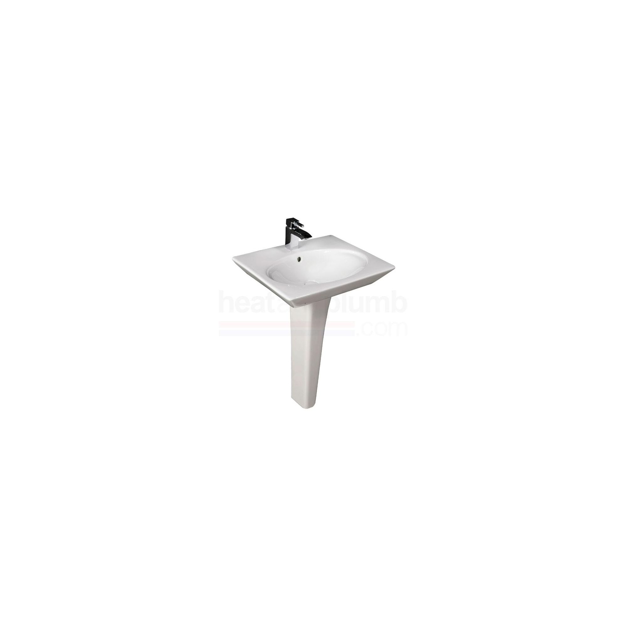 RAK Opulence White 'Her' Full Pedestal and Basin 580mm Wide 1 Tap Hole at Tescos Direct