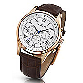 Kennett Savro Mens Leather 24 hour Chronograph Watch WSAVWHBKRGLDB