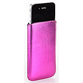 Pouch Metallic Hot Pink