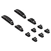 Hama Easy Clip Cable Fastener,10 pieces - Black