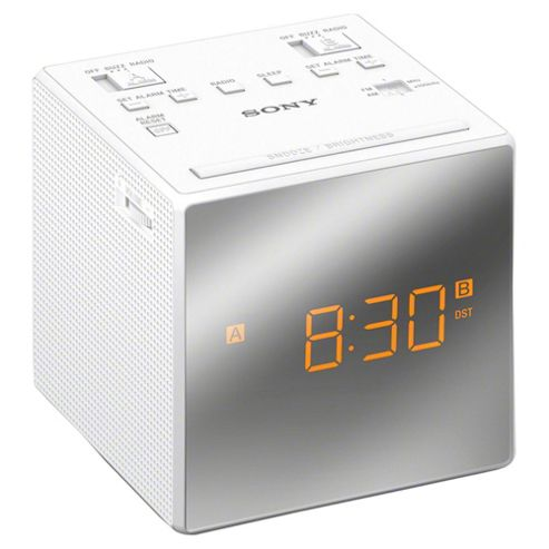 buy sony icfc1t clock radio white from our clock radio range tesco. Black Bedroom Furniture Sets. Home Design Ideas